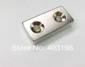 3pcs/Pack N35 Magnets F40*20*10mm 2 Rings Super Powerful Strong Rare Earth Block NdFeB Magnet Neodymium-Free Shipping image