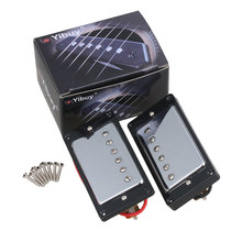 Yibuy Chrome Plated Humbucker pickups For Electric Guitar Parts Set