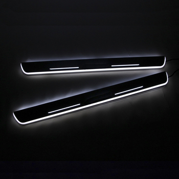 цена на SNCN LED Car Scuff Plate Trim Pedal Door Sill Pathway Moving Welcome Light For VW Volkswagen Jetta MK6 2011-2015 Accessories