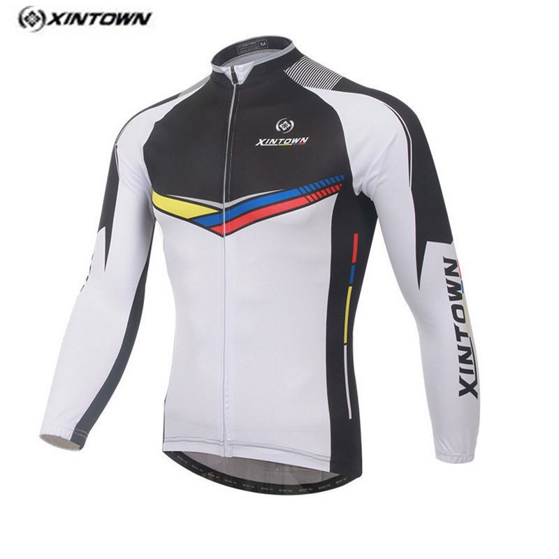 Hot Men Bike Long jersey White Black Pro Team Cycling clothing Riding Top Male MTB Ropa Ciclismo Wear Maillot Long Sleeve Shirts