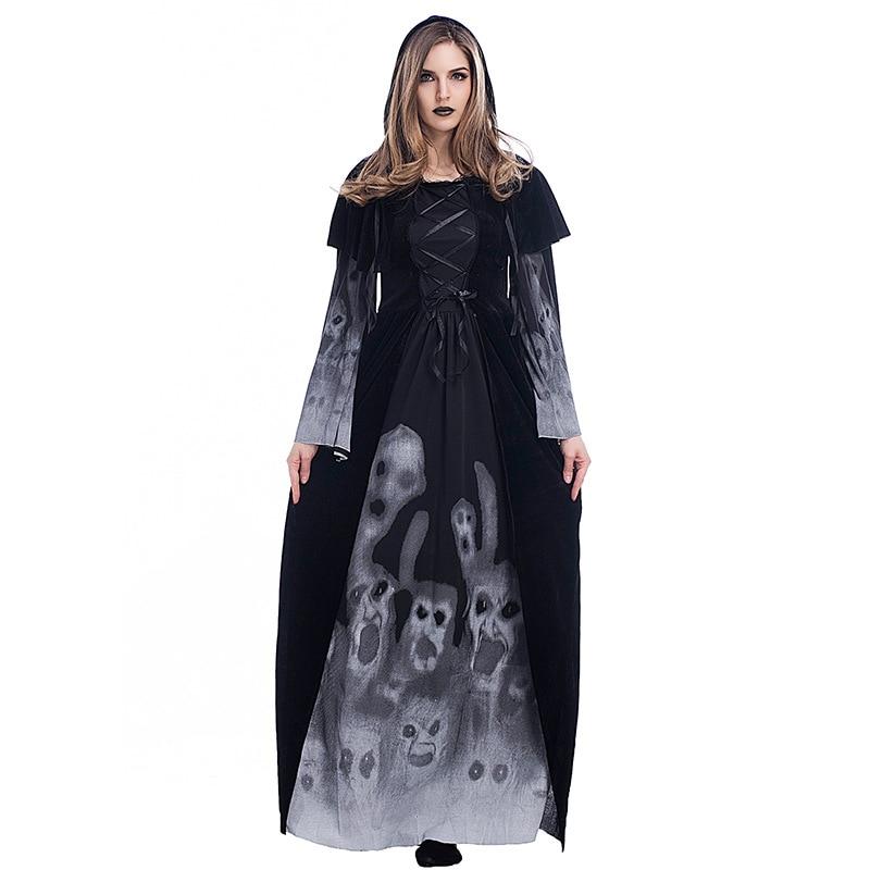 Halloween Noble Queen Vampire Costume For Women Gothic