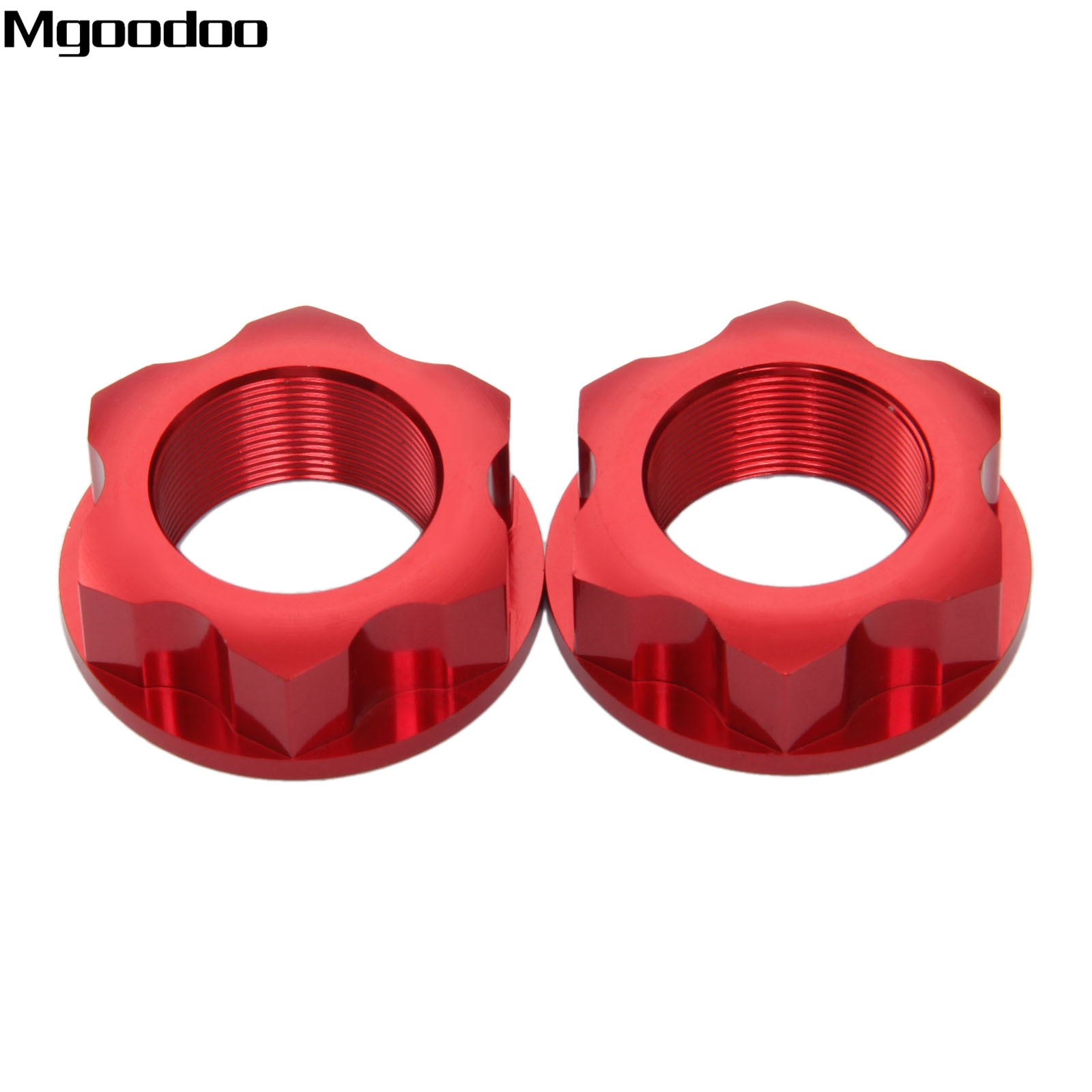 Mgoodoo CNC Aluminum Motorcycle Steering Stem Nut For Honda CBR250R CBR300 CBF150 CBF125 Enduro Dirt Bike Off Road Accessories motorcycle cnc aluminum 7108 gear shift shifter lever for crf 250 2004 2009 motorcycle motocross mx enduro dirt bike off road