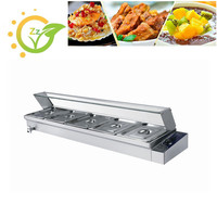 Professional Commercial Food Warmer Kitchen Equipment Machine Electric Countertop Bain Marie For Restaurant