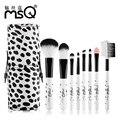 MSQ 8 unid Fundación Pinceles de Maquillaje Pro Set de Cepillo Cosmético Ceja Delineador de Labios sombras Kabuki Maquillaje Herramientas Kits de cañón Mini
