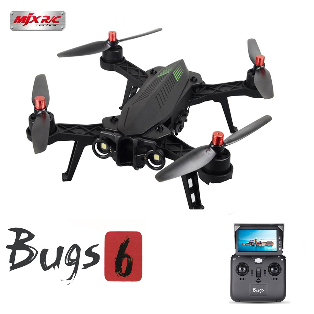 MJX Bugs 6 B6 Brushless Drone Remote Control 2.4G 6-Axis Professional Racing Drone with Camera 720P HD 5.8G FPV RC Quadcopter радиоуправляемый инверторный квадрокоптер mjx x904 rtf 2 4g x904 mjx