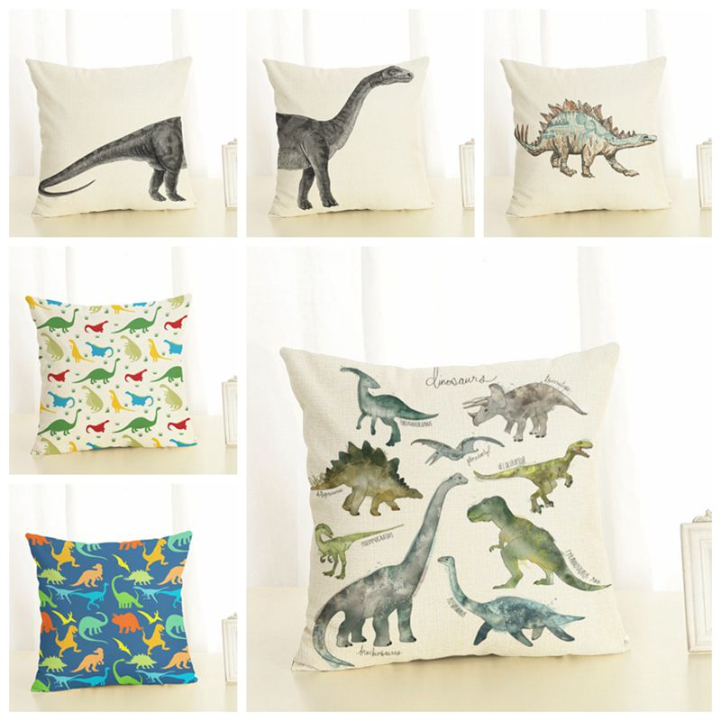 Remarkable Us 6 27 5 Off Kids Cartoon Dinosaur Cushion Cover Printed Animal Home Sofa Chaise Lounge Throw Pillow Case Decorative Boy Cojines Almofada In Andrewgaddart Wooden Chair Designs For Living Room Andrewgaddartcom