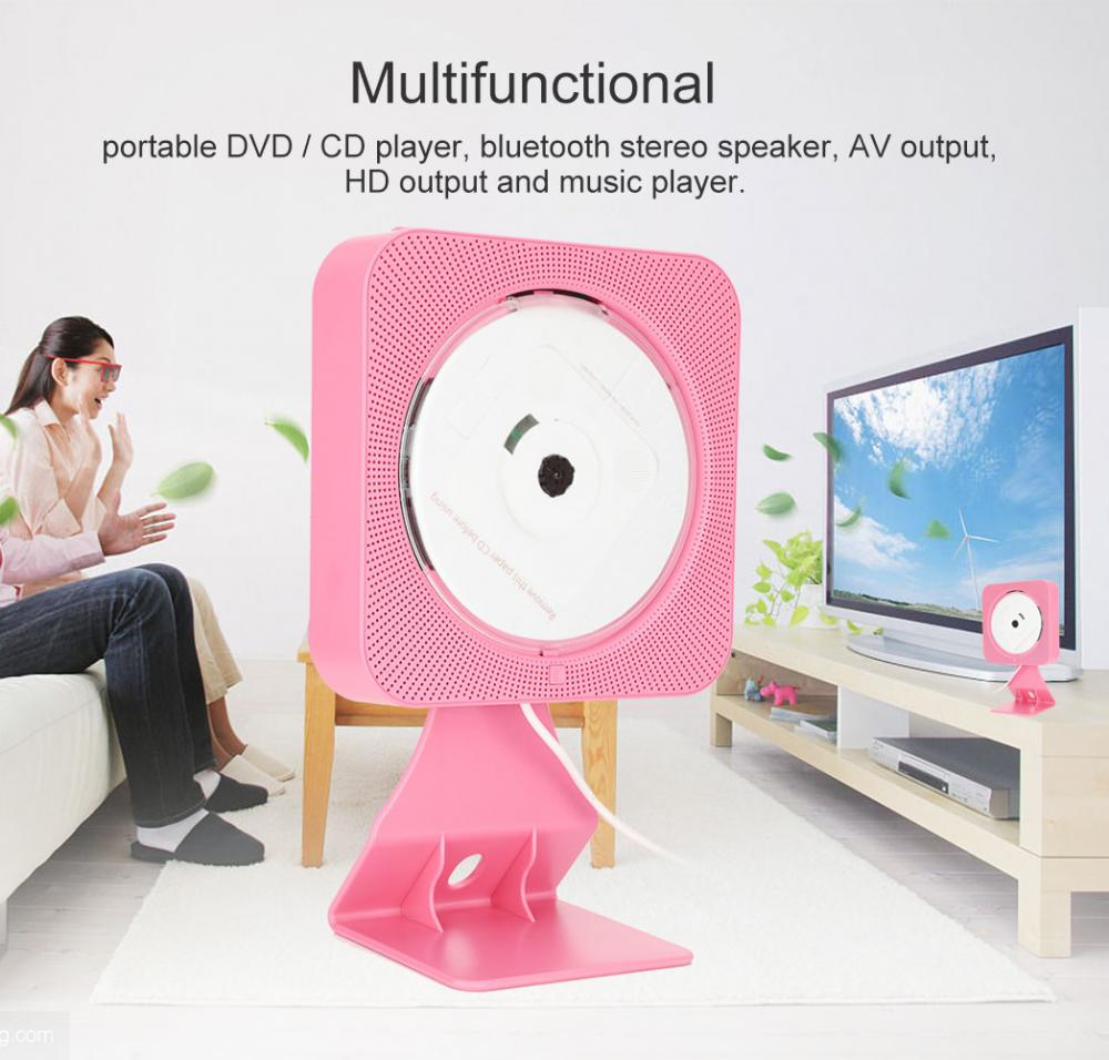 New Wall Mounted Bluetooth DVD CD Player Speaker with Remote Control for UK plug new remote control for lg blu ray dvd disc player remote control akb73615801 for bp220 bp320 bp125 bp200 bp325w