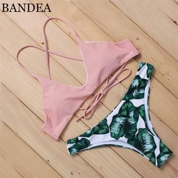 BANDEN new manufacturer bikini set solid vintage swimwear brasil bottom top swimsuit Zabra Competitive High End Brand AD008 1