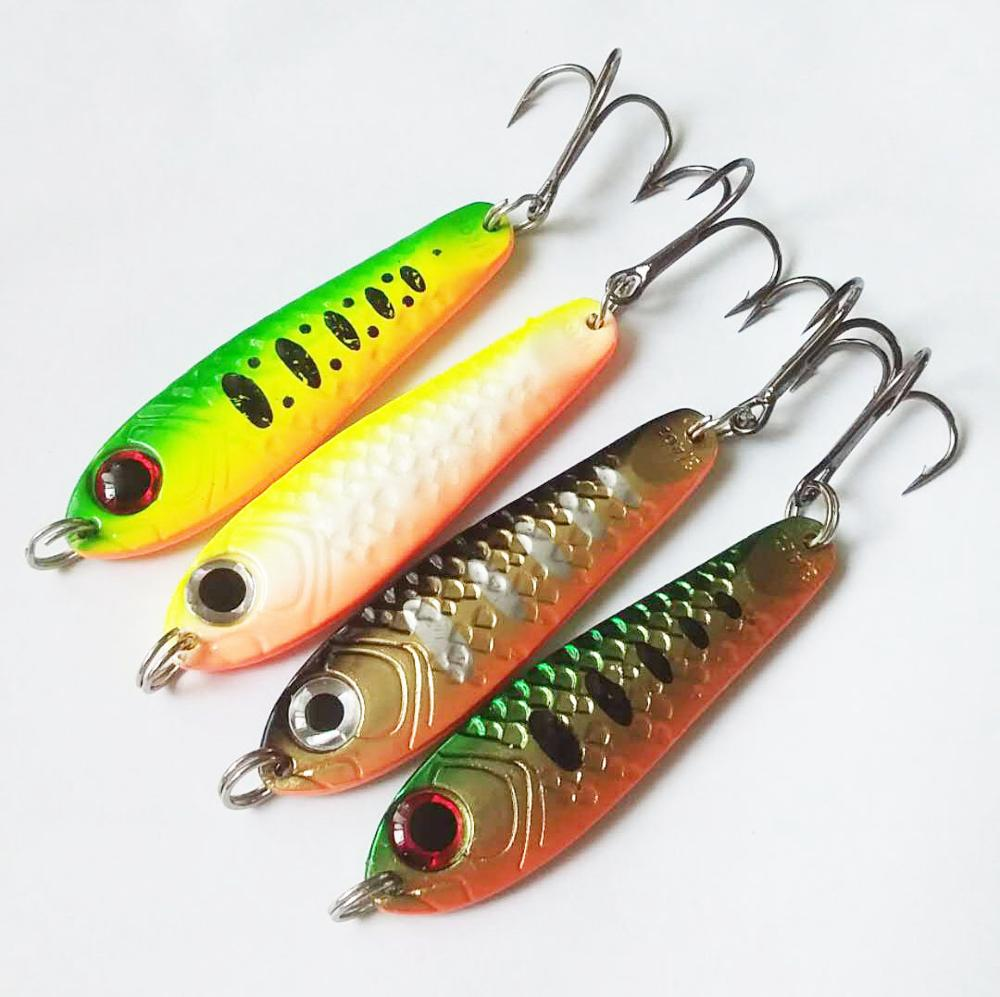 Image 4 - Hot sale 4Pcs High Quality Metal Spoon Fishing Lure Seawater Fishing Bait Jigging Lures Leurre Peche Jig Wobbler 65mm 21g-in Fishing Lures from Sports & Entertainment