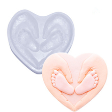 Cake Molds Silicone Mousse Mould Love Heart Shape Baby Infant Feet Hands Cake Mold Tray DIY Cakes Decorating Tools Bakeware