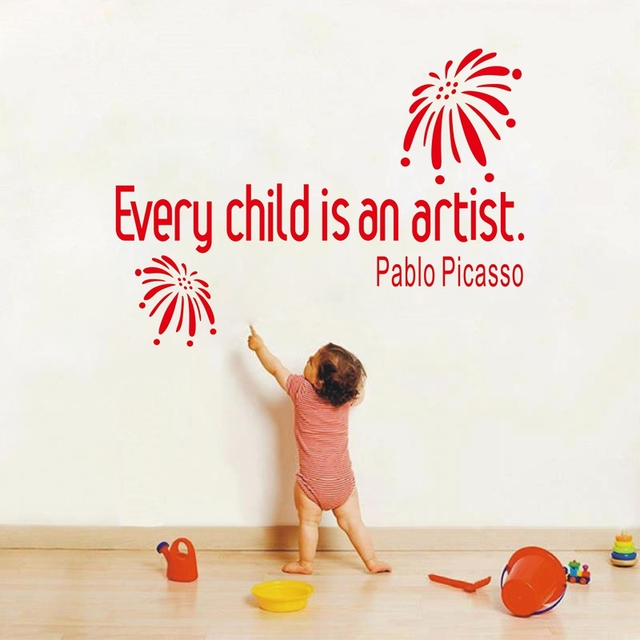 Ebay Hot Ing Every Child Is An Artist Wall Quote Decal Sticker Baby Nursery