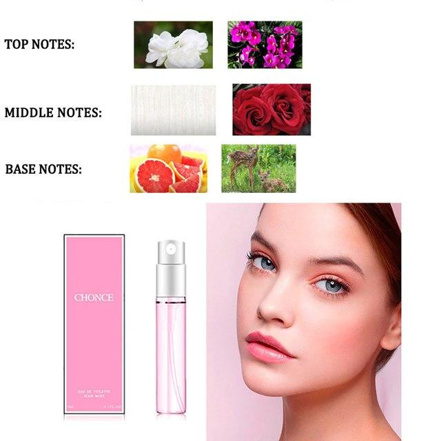1PCS 3ML Perfume For Men And Women Atomizer Bottle Glass Fashion Lady Female Parfum Long Lasting Flower Fragrance Deodorant 3