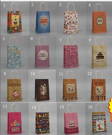 56dda6c1d 16 Style (21*13*8cm) Fashion Hand Length Handle Paper Bag kraft paper bag,Festival  gift package