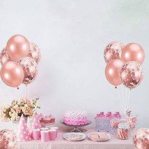 Image 3 - 20pcs עלה זהב מעורב בלוני חתונת יום הולדת שולחן קישוט תינוק מקלחת ילד ילדה תרנגולת מסיבת רווקות DIY חדש שנה