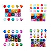 1 коробка 8 мм Цвет ful выпечки Окрашенные имитация Drawbench Стекло Кристалл Свободные Ювелирных изделий DIY Craft Бусины, круглые, смешанные Цвет