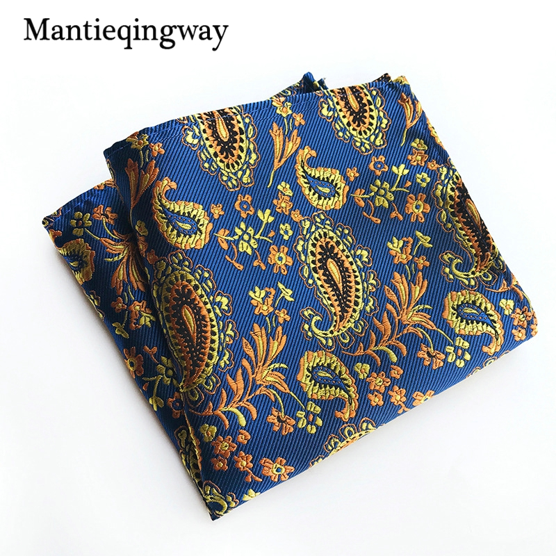 Mantieqingway Business Suits Mens Handkerchiefs Hanky Polyester Chest Towel Handkerchiefs 25cm Pocket Square For Wedding Party