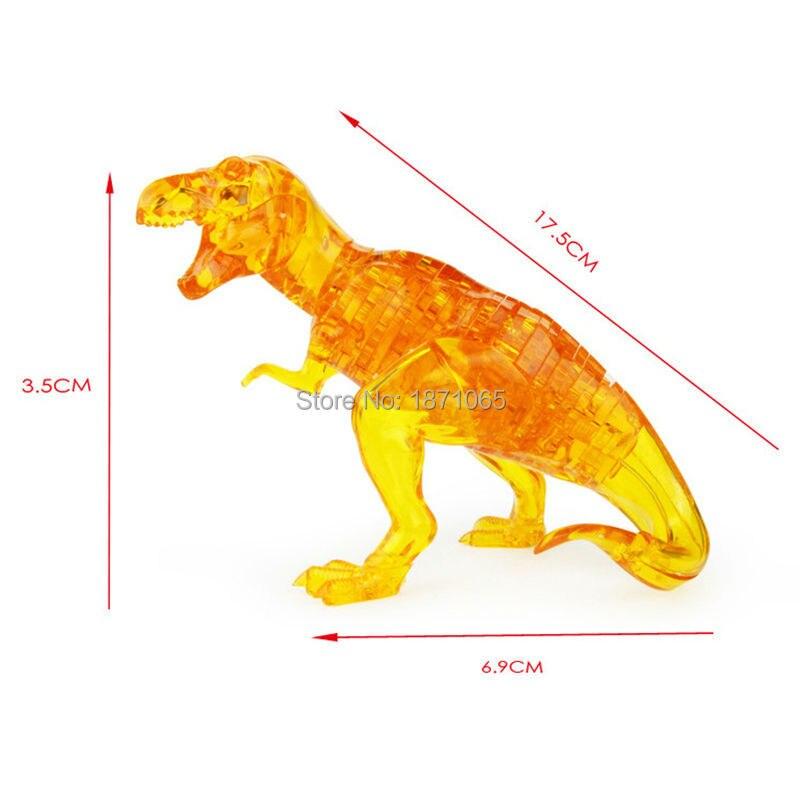 Funny Crystal Dinosaur Educational Leker DIY 3D Puzzle High Quality - Puslespill - Bilde 2