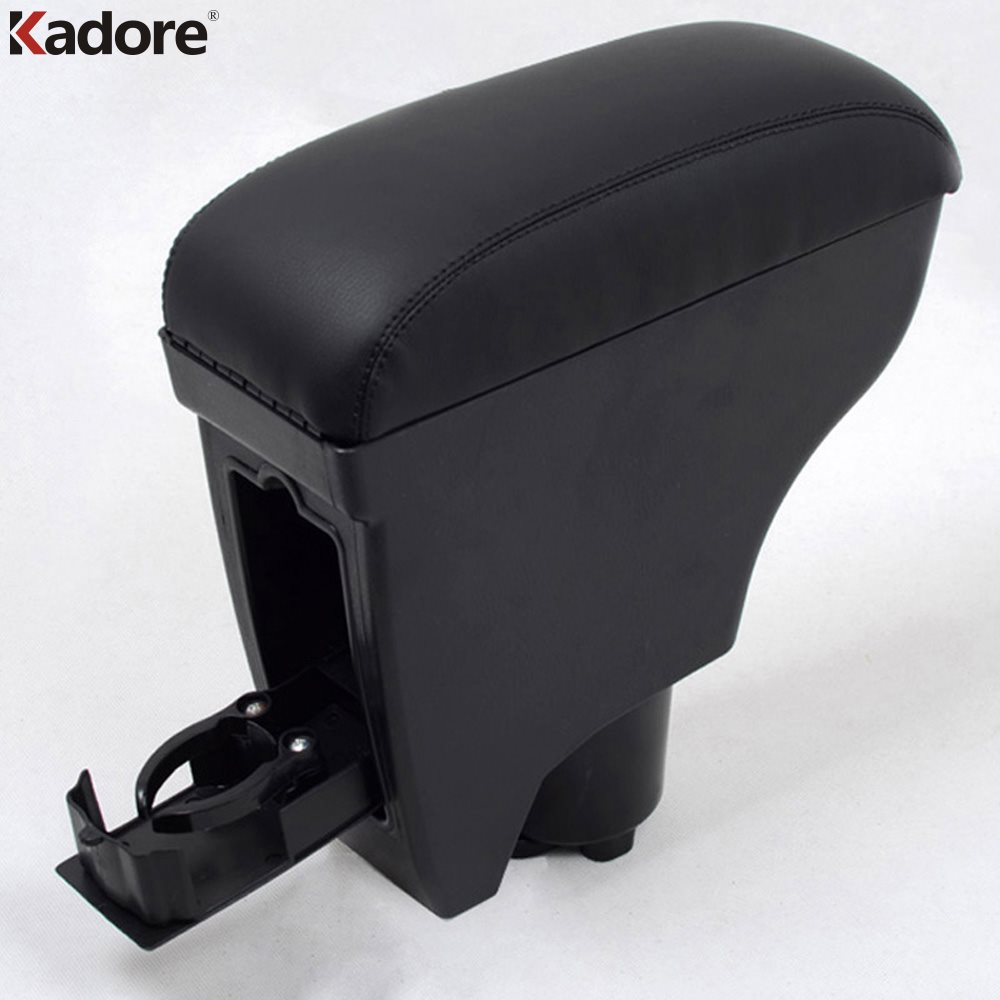 For Toyota Vitz Yaris Belta 2005-2011 2TH GE Leather Console Armrest Central Box Pad Car Inner Mat Plastic Arm Rest Seat Cover