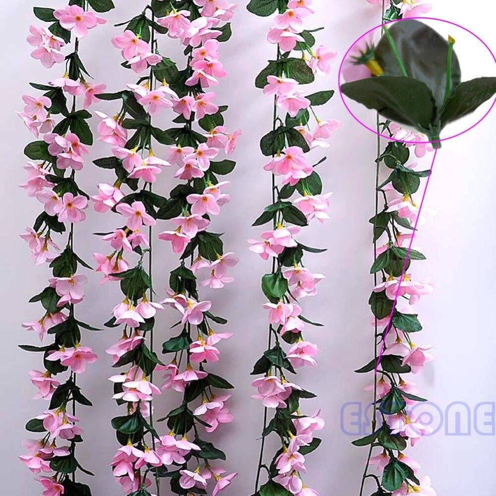1 Bunch Of Artificial Violet Hanging Garland Vine Flower Trailing