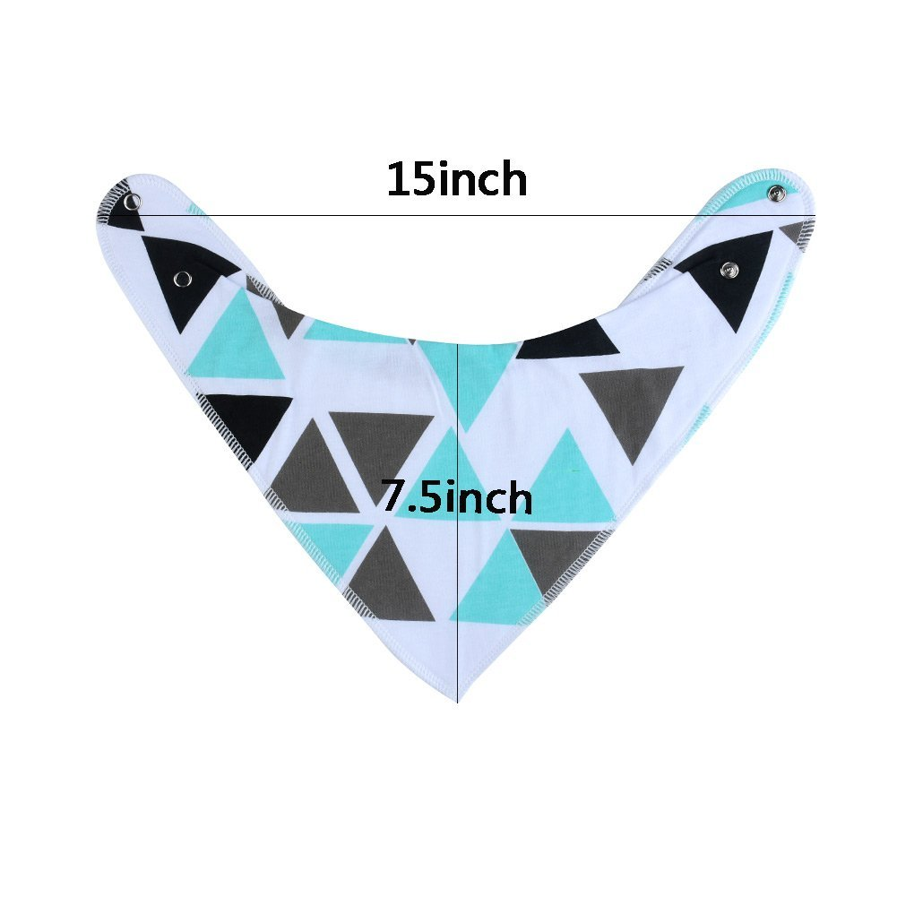 12Pcs Baby Bandana Drool Bibs for Boys and Girls 100% Organic Cotton Soft and Absorbent Baby Drool Bibs for Newborns