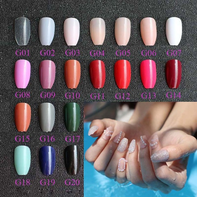 24pcs Fashion Section Candy Color Coffin Shape Nails Por S Of The King 20