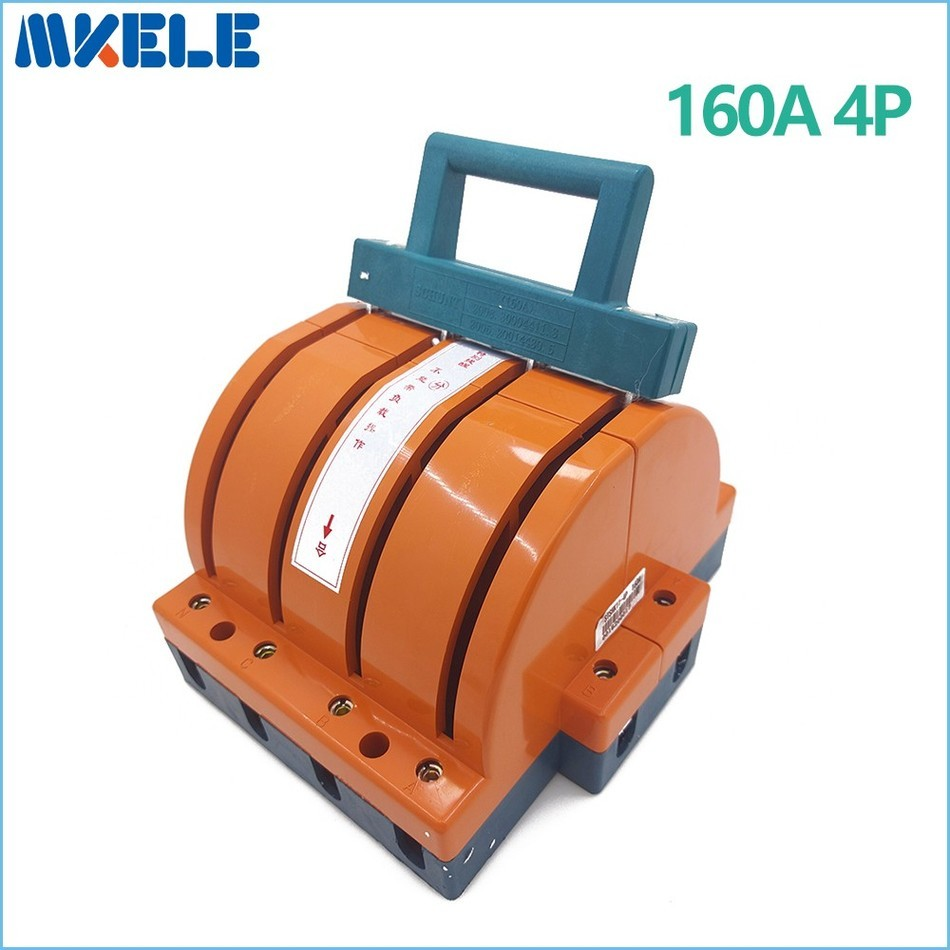 купить Quality High Heavy Duty 160A 4p Double Throw Disconnect Switch Delivered Safety Knife Blade Switches air circuit breakers China по цене 1540.22 рублей