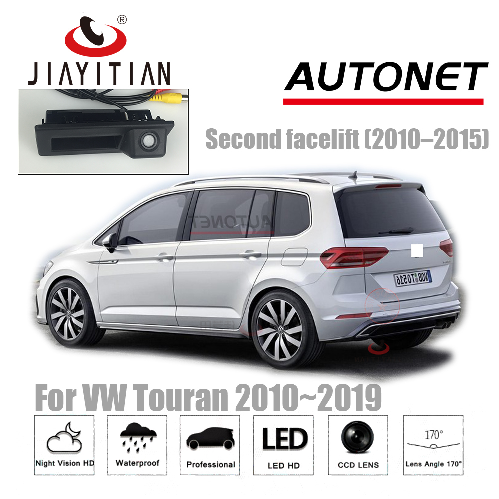 JIAYITIAN Trunk Handle Camera For VW Touran 2010~2016 2017 2018 2019 Backup Camera Parking Reverse Camera CCD Night Vision