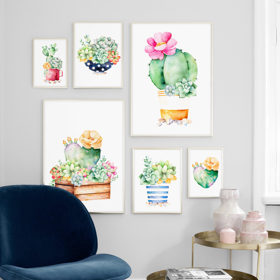 AFFLATUS-Cactus-Succulent-Plant-Canvas-Painting-Nordic-Poster-Wall-Art-Prints-Watercolor-Wall-Pictures-For-Living (1)