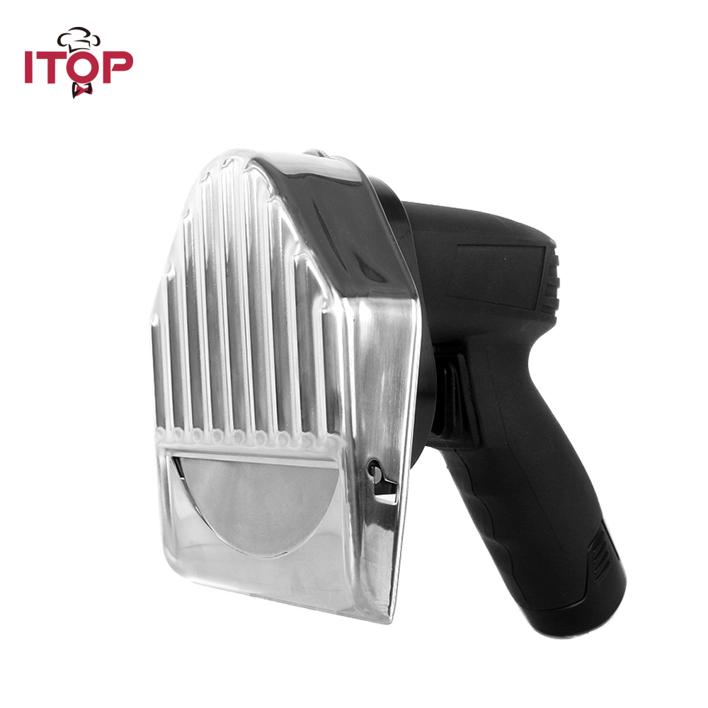 ITOP Automatic Professional and Comerical Powerful Electric Doner Kebab Slicer for Shawarma,Kebab Knife,Gyros Knife itop automatic doner kebab slicer for shawarma kebab knife gyros knife gyro cutter two blades 220v 110v 240v