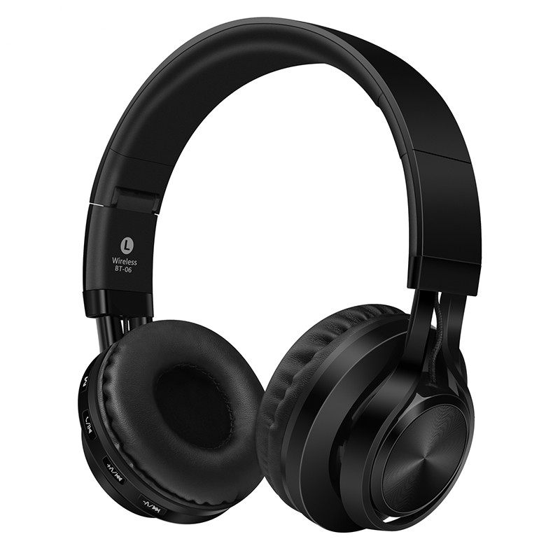 Over-ear Wireless Bluetooth 4.0 Headphones Foldable Stereo with Build-in Microphone, Wired Music Headsets MP3