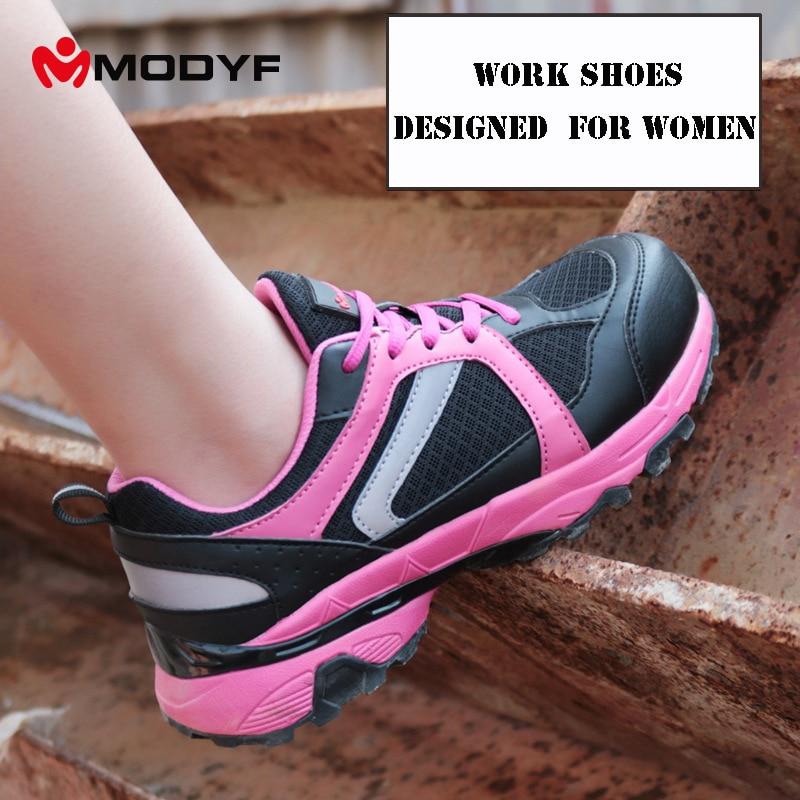 브랜드 여성 작업 안전 신발 강철 발가락 통기성 경량 안티 스매싱 방지 펑크 건설 보호 신발-에서작업 & 안전 부츠부터 신발 의  그룹 1