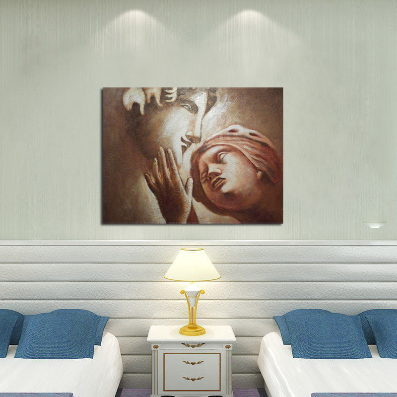 lovers romantic couple large oil painting canvas contemporary modern art home decoration for living room in Painting Calligraphy from Home Garden