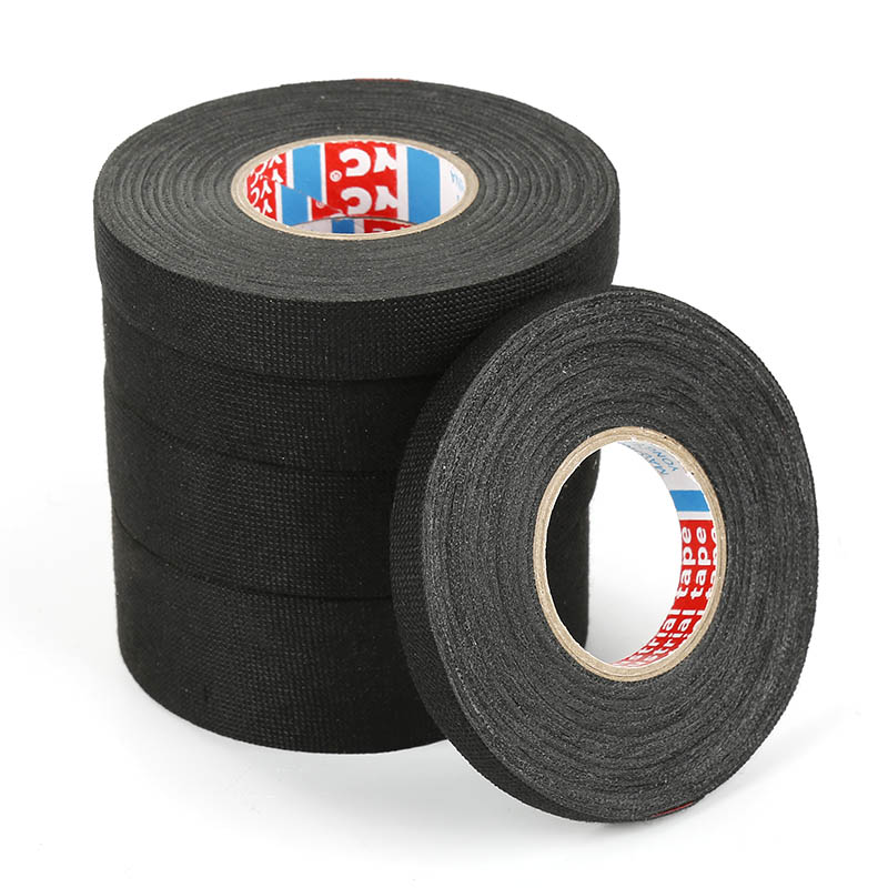 Heat-resistant Wiring Harness Tape Looms Wiring Harness Cloth Fabric Tape Adhesive For Cable Protection Fabric Tape 19mm X 15m