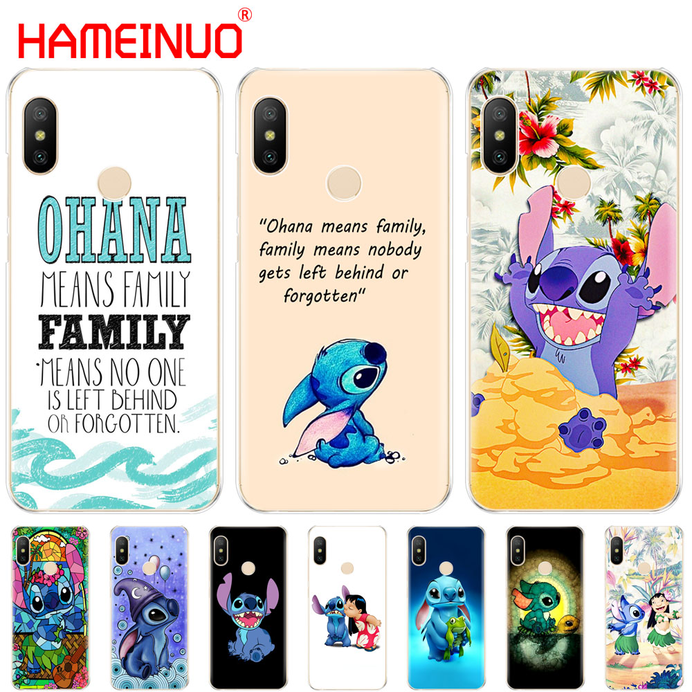 HAMEINUO LILO AND STITCH OHANA FAMIL Cover Case for Xiaomi Mi 8 se A2 lite redmi 6 6a 6 pro note 6 PRO pocophone F1 for redmi s2