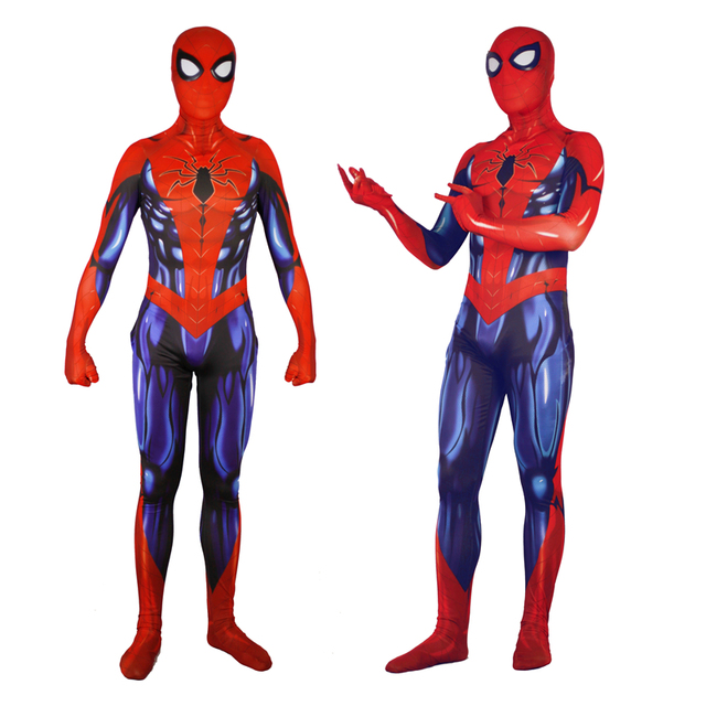 BOOCRE New Spider-Man Homecoming Cosplay Costumes Superhero Steel muscle Spider Man Bodysuit Jumpsuits Suits