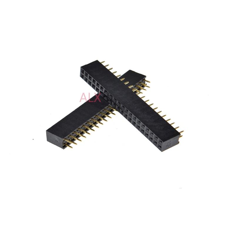 2.54mm 2X20 40Pin Double Row Female Straight Header Pitch Socket Pin Strip 10pcs