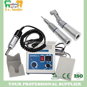 dental Lab micromotor polish handpiece with contra angle & straight handpiece SEAYANG MARATHON 3 + Electric Motor