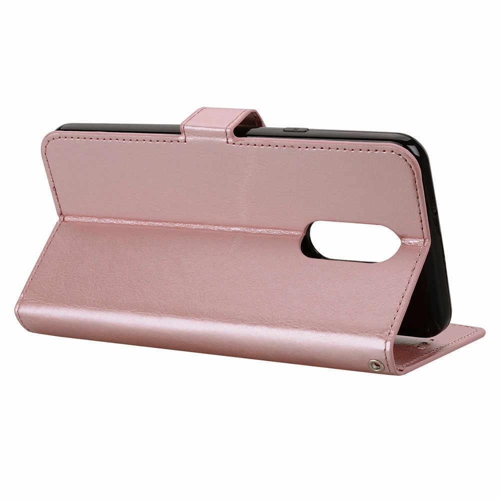 جديد فتحة محفظة جلدية حامل فليب غطاء الجلد حقيبة لجهاز LG Q7/Q7plus 5.5 بوصة دروبشيبينغ Mar16