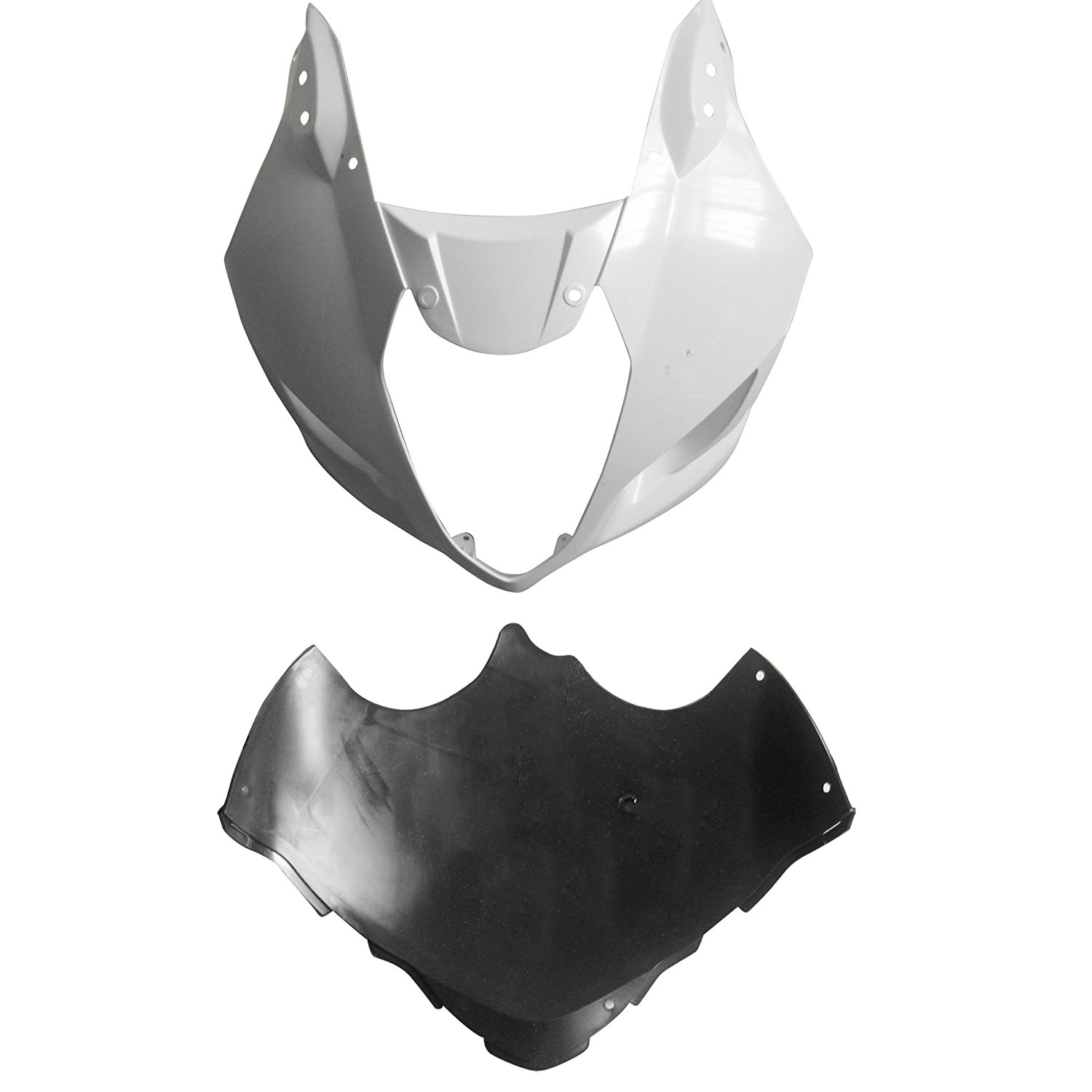 Motorcycle Unpainted Front Upper Nose Fairing For Suzuki GSXR 1000 GSXR1000 2003 2004 GSX-R1000 03 04 Fairings Injection Mold custom road fairing kits for suzuki glossy flat black 2006 gsxr 1000 k5 2005 gsx r1000 06 05 motorcycle fairings kit