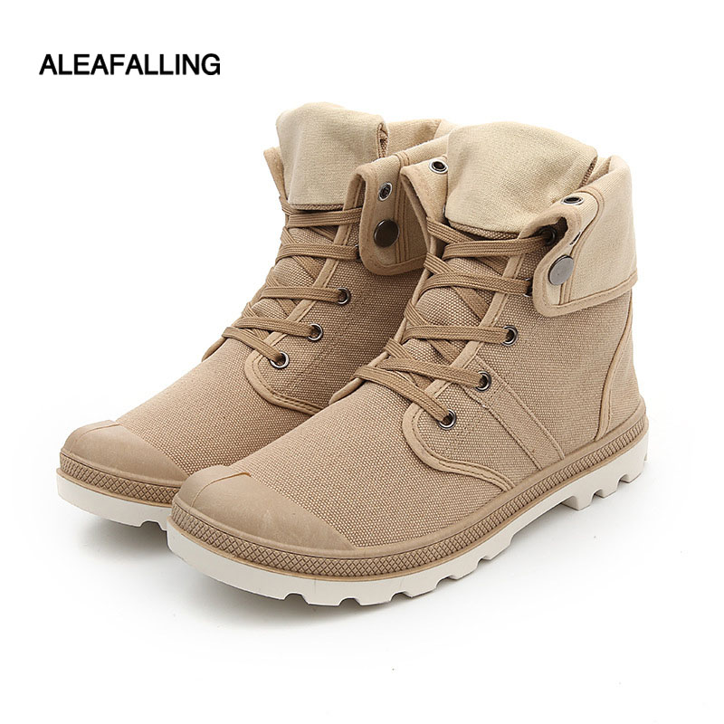 Shoes Aleafalling Classcial Outdoor Men Shoes Canvas Sneakers Male High Mature Boots Street Fashion Trend Ankle Motorcycle Boots Mbt30