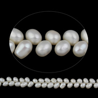 Seed Beads Clearance Clean Sale Freshwater Pearl Beads Rice Natural White 7 8mm Hole Approx 0