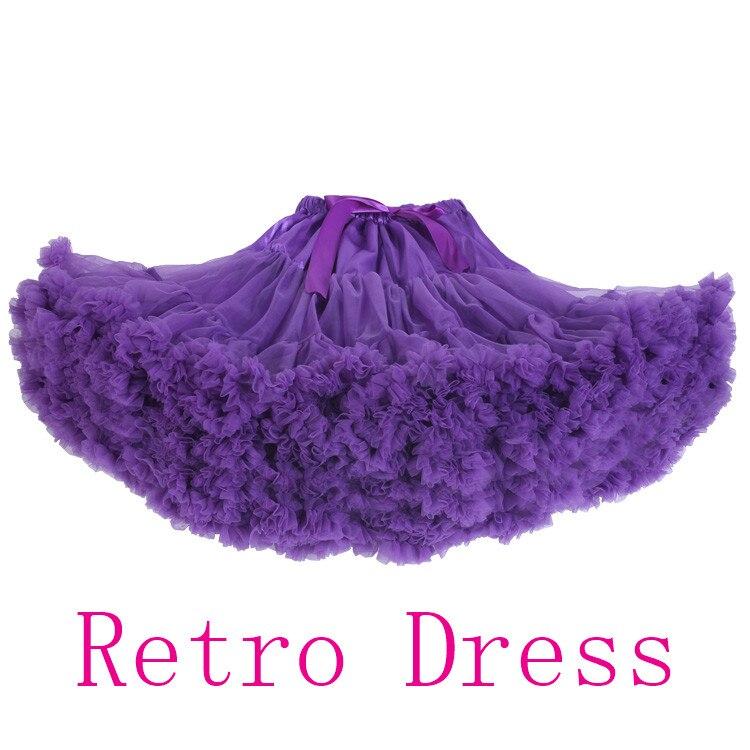 10 colors Woman teenage adualt girls chiffon skirt Ruby red pink purple white color pettiskirt tutu dancewear party fluffy skirt