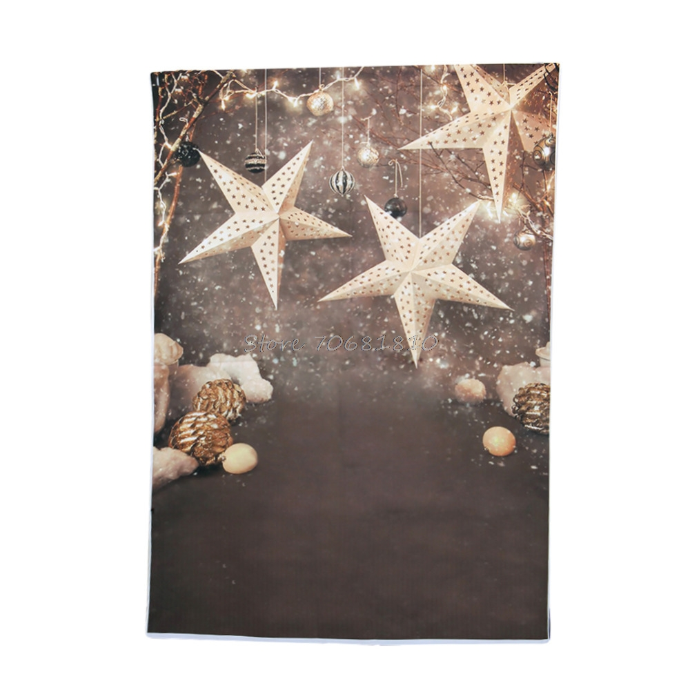 Background Snowflake Christmas Star Photography Backdrops For Photo Studio 3X5ft  Drop shipping
