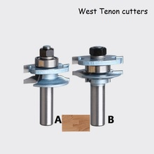 SHINA 2PCS Concave Stile and Rail Bits Nail Tenon Joints Door Knife Kitchen Cabinet Milling cutter -2pcs/set
