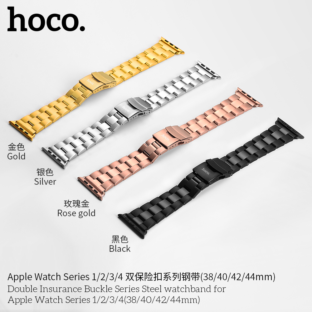 Image 5 - HOCO Bracelet Steel Band For Men Compatible With Apple Watch Series 4 3 2 1 Accessories Adapter For Iwatch 44mm 42mm 40mm 38mm-in Watchbands from Watches