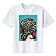 amy winehouse T-Shirt men 2017 Summer fashion tshirt casual white print t shirt for male comfortable boy top tees M8005