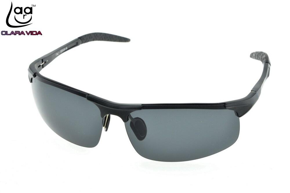 Marque CLARA VIDA Al-Mg Alliage Sport Polarisées lunettes de Soleil Hommes  UV400 Polaroid sports Extrêmes Conduite En Plein Air Designer Lunettes de  Soleil 9a435d196f96