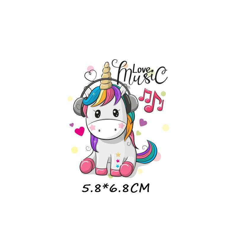 Милые маленькие животные Единорог Сова собака кошка патч для одежды стикер для детей мальчик девочка DIY патчи Футболка теплопередача Винил - Цвет: zt1085