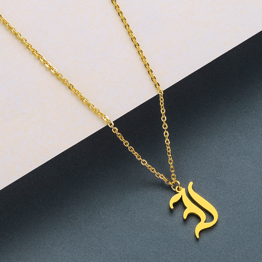 Todorova Old English Custom Capital Initial A-Z Letter Pendant Necklace Men Vintage Font Personalized Necklace Women Jewelry 27