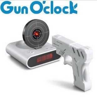 Wholesale Gun Alarm Clock New Item Novelty Alarm clock Hotsale 10pcs/lot Fast delivery Free shipping